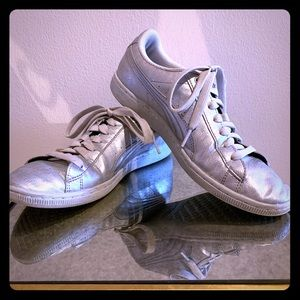 Puma Silver Leather Sneakers